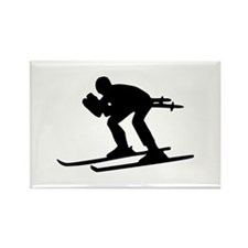 Ski Downhill Rectangle Magnet (10 pack)