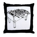 Foosball - Table soccer Throw Pillow