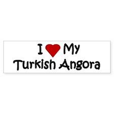 Turkish Angora Bumper Car Sticker