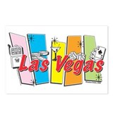 Las Vegas Retro Postcards (Package of 8)