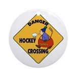 Amateur Hockey Ornament (Round)