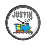 Train with Justin in Smoke Wall Clock