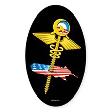 Obama Health Screws USA Oval Decal