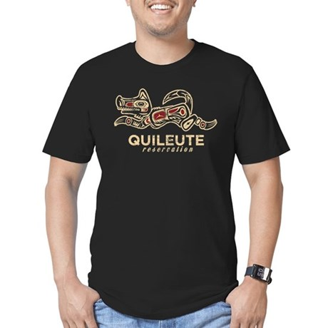 Quileute Reservation Men's Fitted T-Shirt (dark)