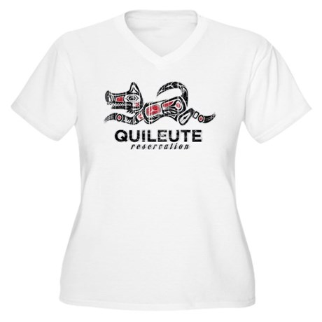 Quileute Reservation Women's Plus Size V-Neck T-Sh