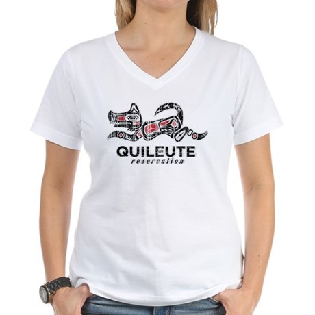 Quileute Reservation Women's V-Neck T-Shirt