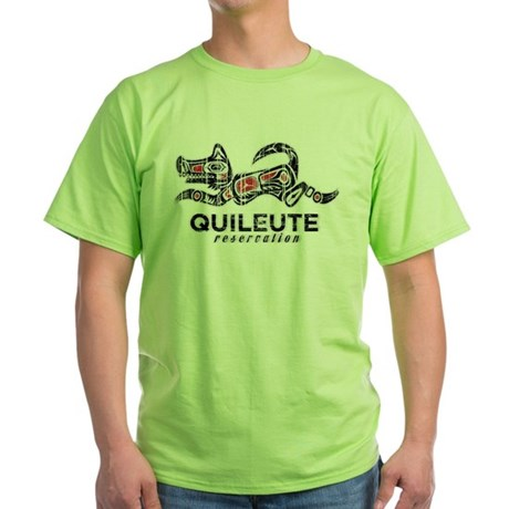 Quileute Reservation Green T-Shirt