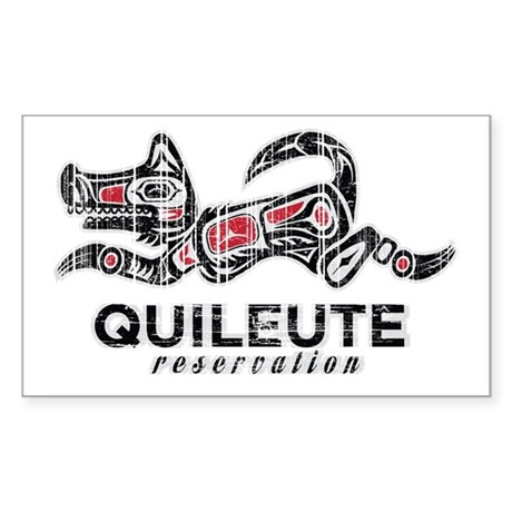 Quileute Reservation Rectangle Sticker 10 pk)