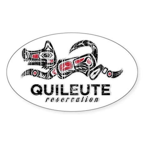 Quileute Reservation Sticker (Oval 10 pk)