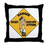 Hockey Coach Throw Pillow