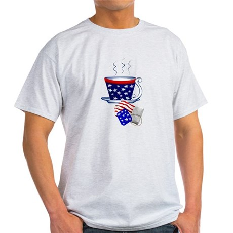 American Tea Cup and Bag Light T-Shirt