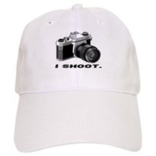 """I shoot"" BW camera Baseball Cap"