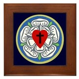 Framed Luther Seal on Navy Tile