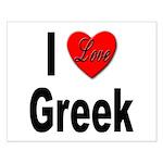 I Love Greek Small Poster