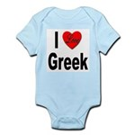 I Love Greek Infant Creeper