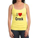 I Love Greek Jr. Spaghetti Tank