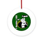 I Golf Ornament (Round)