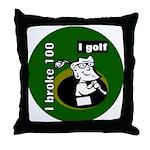 I Golf Throw Pillow