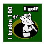 I Golf Tile Coaster