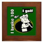 I Golf Framed Tile
