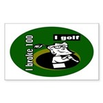 I Golf Rectangle Sticker
