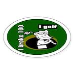 I Golf Oval Sticker