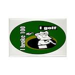 I Golf Rectangle Magnet (100 pack)
