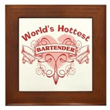 World's Hottest Bartender Framed Tile