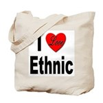 I Love Ethnic Tote Bag
