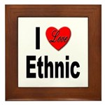 I Love Ethnic Framed Tile