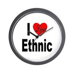 I Love Ethnic Wall Clock