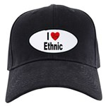 I Love Ethnic Black Cap
