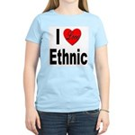 I Love Ethnic (Front) Women's Pink T-Shirt