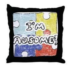 I'm Ausome - FADED Throw Pillow