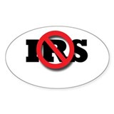 No IRS Oval Sticker (10 pk)