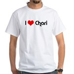 I Love Chari White T-Shirt