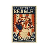 Obey the Beagle! USA Propaganda Magnet