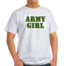 Army Girl Ash Grey T-Shirt