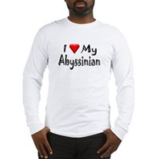 Love My Abyssinian Long Sleeve T-Shirt