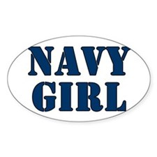 Navy Girl Oval Decal