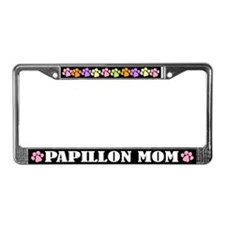 Cute Papillon Mom Dog License Plate Frame