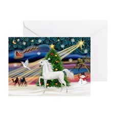 XmasMagic/Arabian Horse (W) Greeting Cards (Pk of