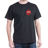 STOP SNITCHING Black T-Shirt - PREMIUM POCKET LOGO