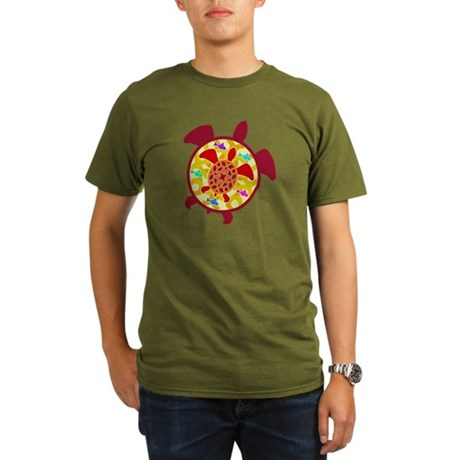 Turtle Within Turtle Organic Men's T-Shirt (dark)