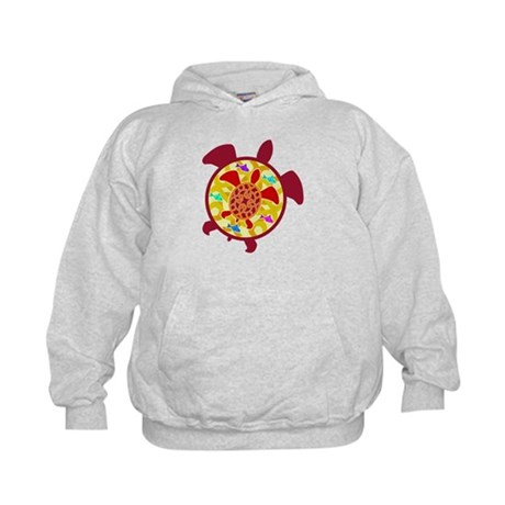 Turtle Within Turtle Kids Hoodie