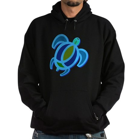 Blue Sea Turtle Hoodie (dark)