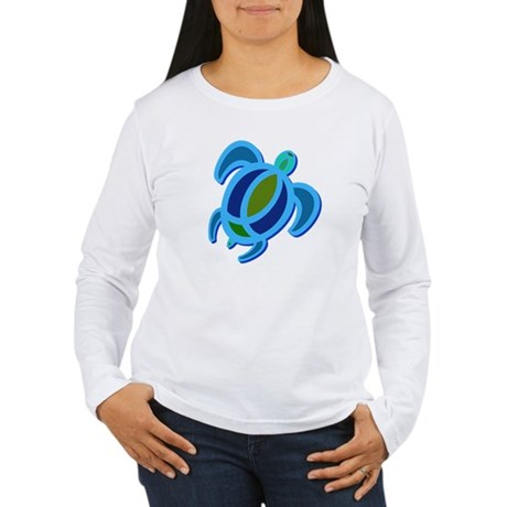 Blue Sea Turtle Women's Long Sleeve T-Shirt