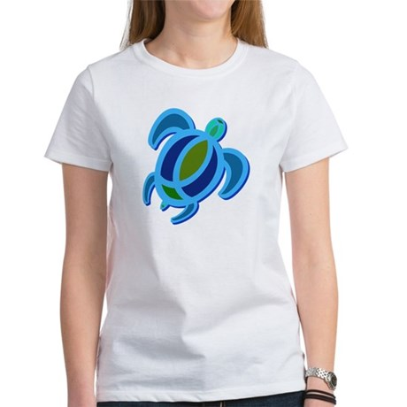 Blue Sea Turtle Women's T-Shirt