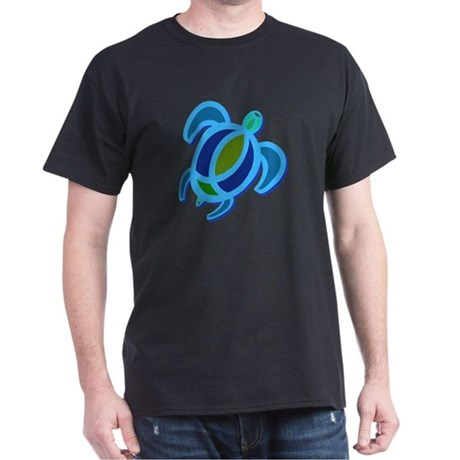 Blue Sea Turtle Dark T-Shirt