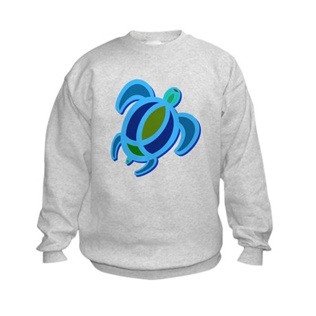 Blue Sea Turtle Kids Sweatshirt